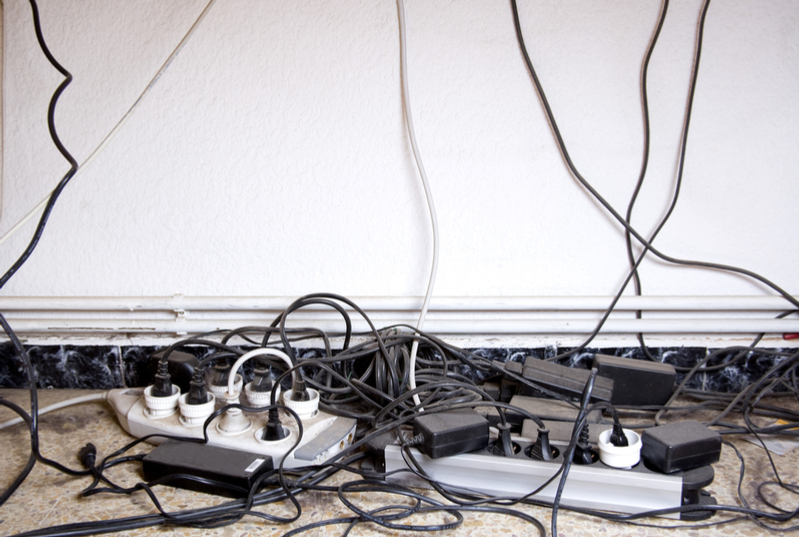 Ugly cables under desk