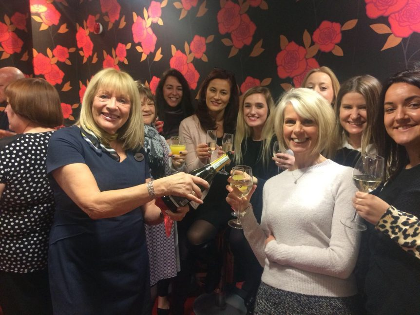 Christmas Prosecco at Rombourne's Merlin House offices