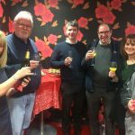 Christmas party drinks at Rombourne's Merlin House offices