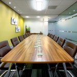 The boardroom at Kingston House - a Rombourne Serviced Office in Swindon