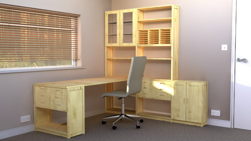 Decluttered shelves in your rented office space