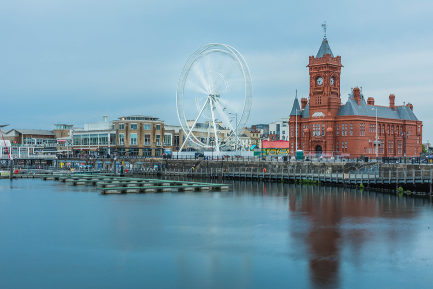 Cardiff Bay in South Wales